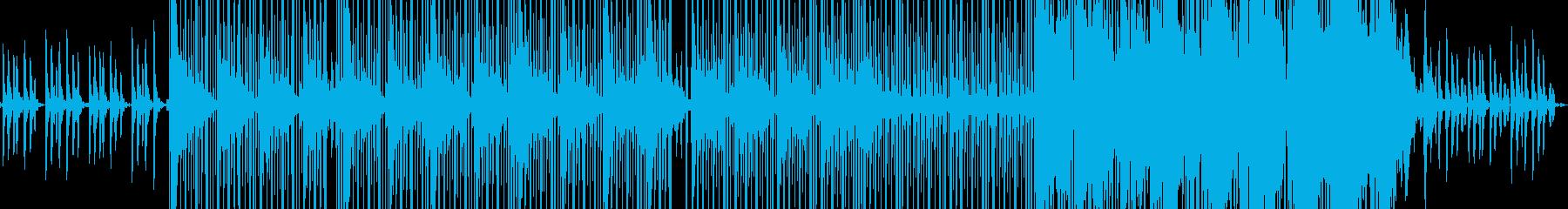 ピアノのスローヒップホップの再生済みの波形