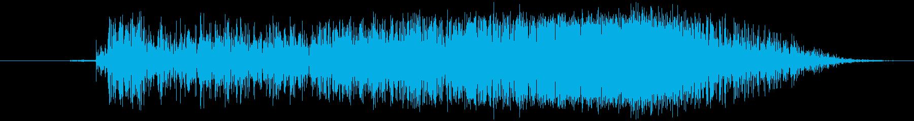 炭酸が抜ける (プシュッ)の再生済みの波形