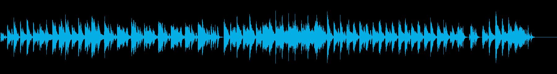 ハープのファンタジーな曲の再生済みの波形