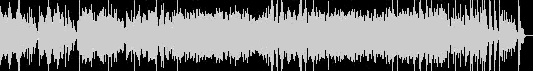 リズミカルなピアノソロの未再生の波形