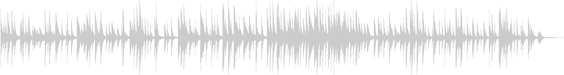 ノスタルジックな終焉 ピアノバラードの未再生の波形