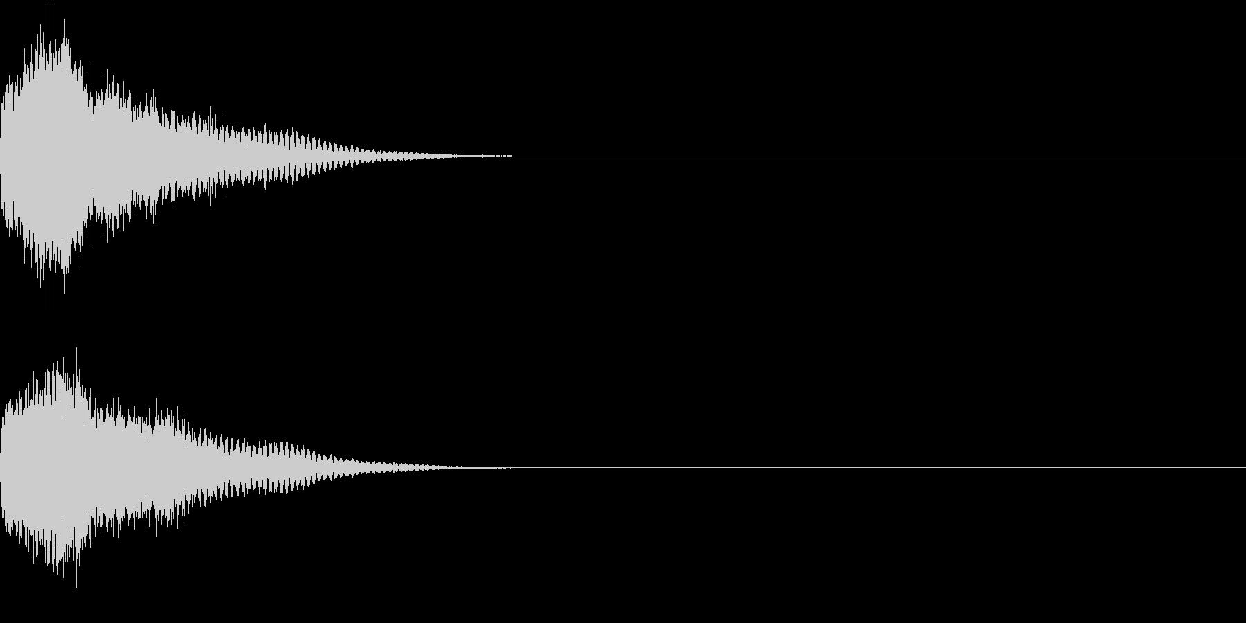 光る キラリ キューン 02の未再生の波形