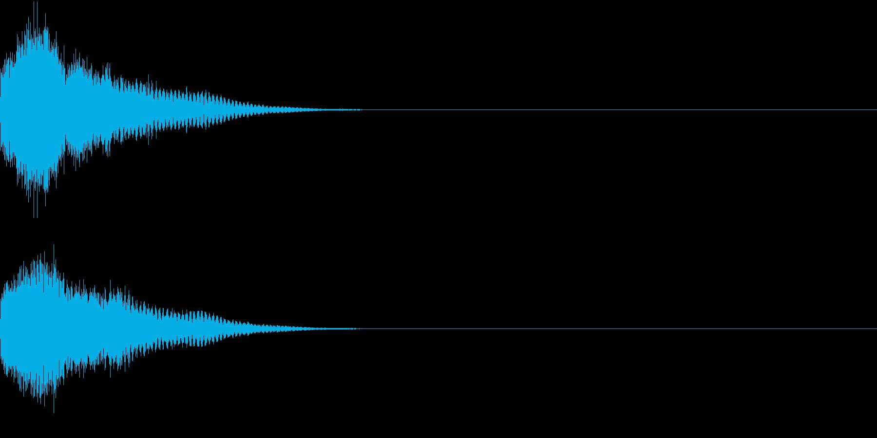 光る キラリ キューン 02の再生済みの波形