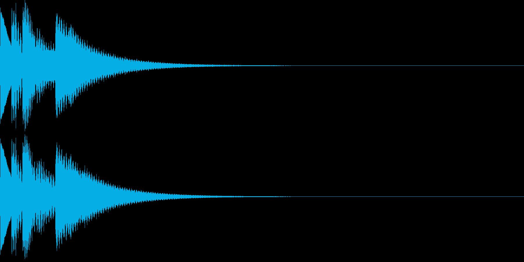 明るく煌びやかなSE 入手音 選択音の再生済みの波形