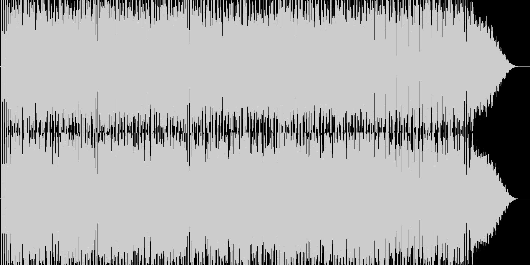エレクトロなバトルBGMの未再生の波形