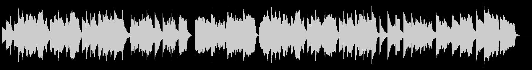 癒しのフルートとアコースティックギターの未再生の波形