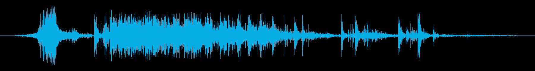 花火、爆竹1の再生済みの波形