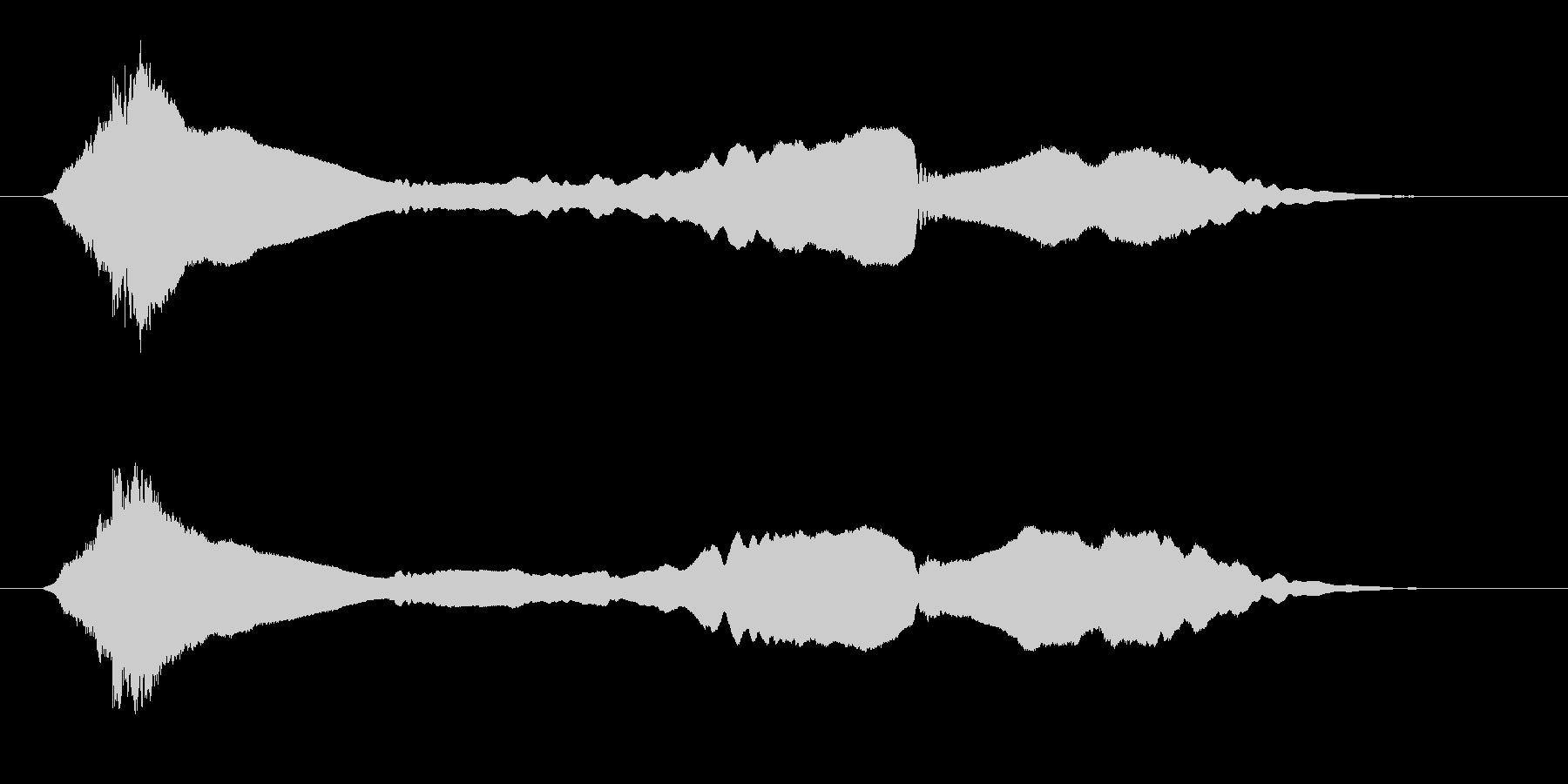 サムライ参上!尺八のフレーズ音の未再生の波形