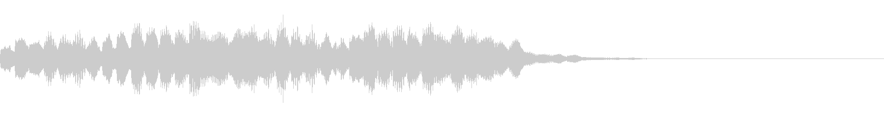 広がりのあるキラキラシンセサウンドロゴの未再生の波形