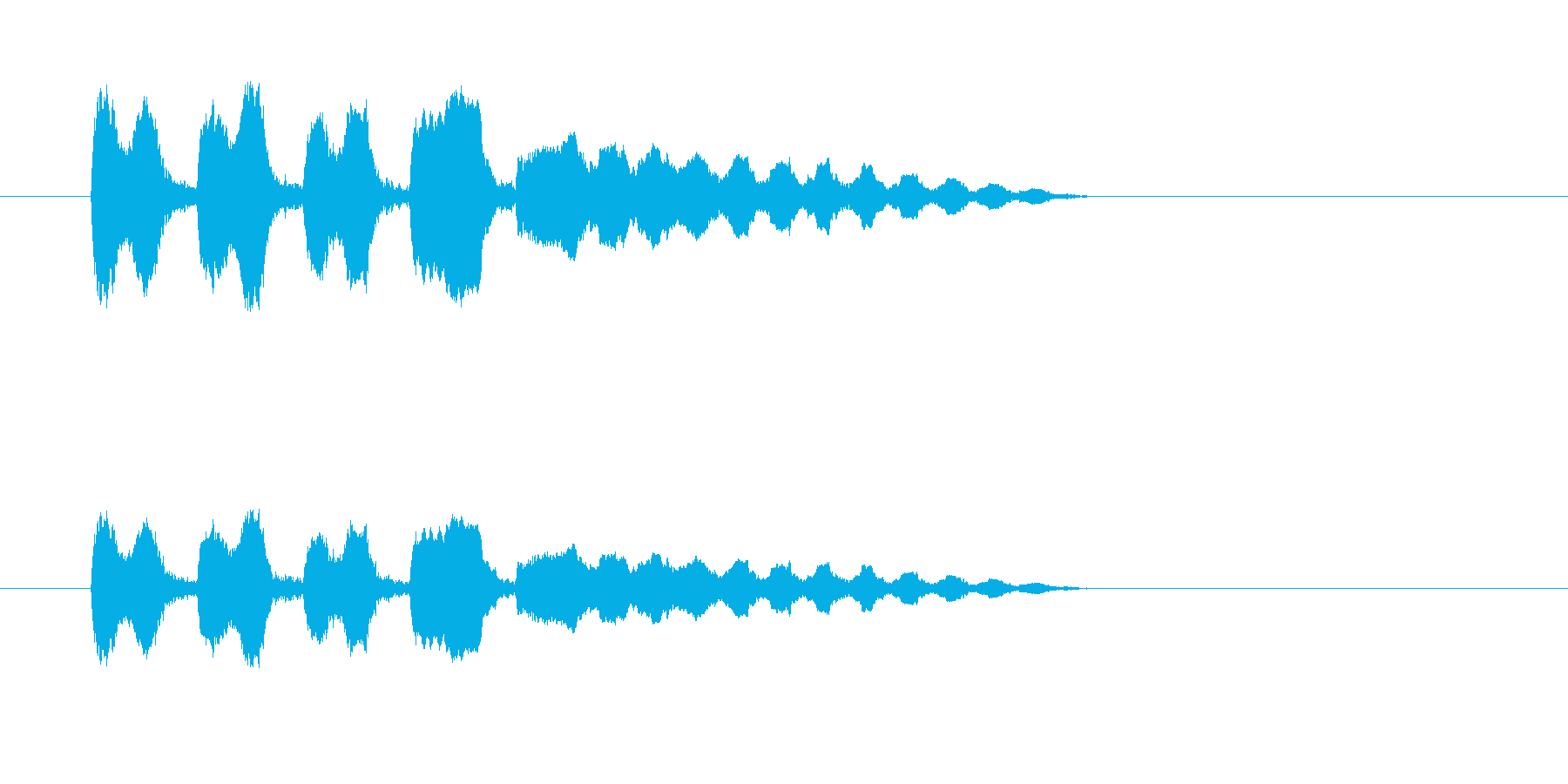 ボワンボワ~ン(力の抜けるオチの音)の再生済みの波形