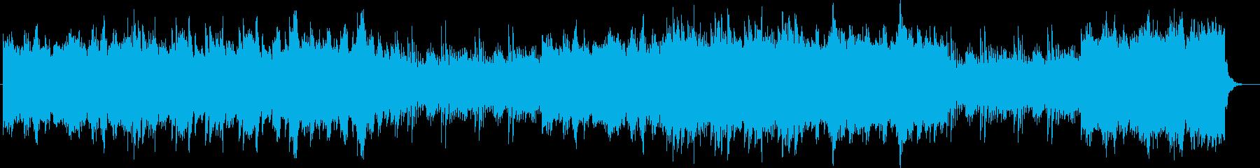切なく感動的なピアノのバラードの再生済みの波形