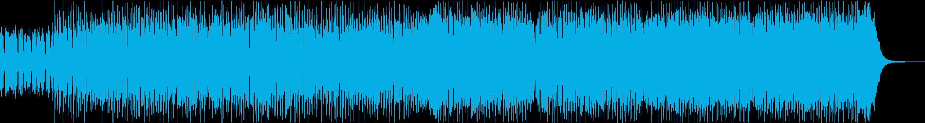 テンションの上がる疾走感あるEDMビートの再生済みの波形