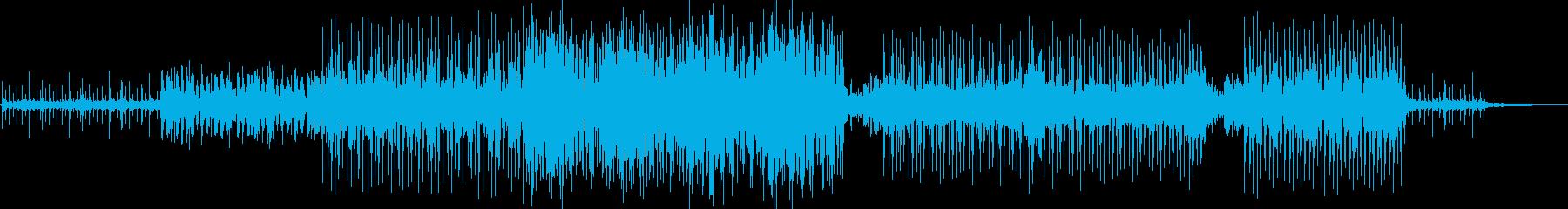 暗く神秘的なシンセサイザーBGM曲の再生済みの波形