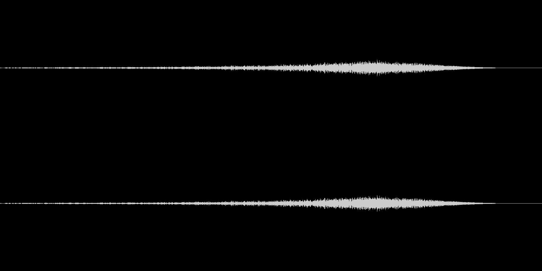 シュー:矢印が上昇するような音の未再生の波形