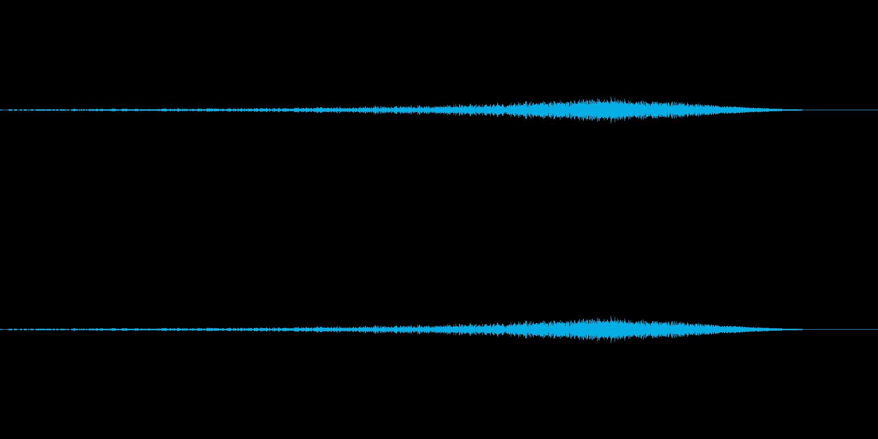 シュー:矢印が上昇するような音の再生済みの波形