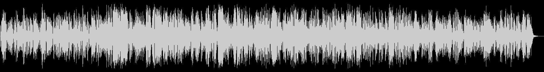 陽気なクラリネットメロディとジャズピアノの未再生の波形