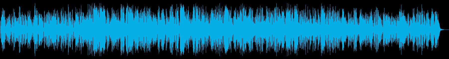 陽気なクラリネットメロディとジャズピアノの再生済みの波形