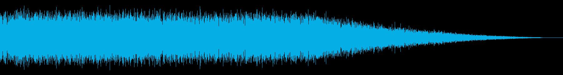 戦車の走行音/キャタピラの効果音! 04の再生済みの波形