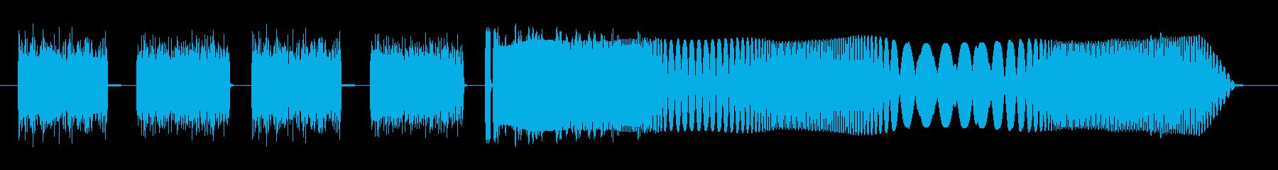 静的信号スワイプ2のザッピングの再生済みの波形