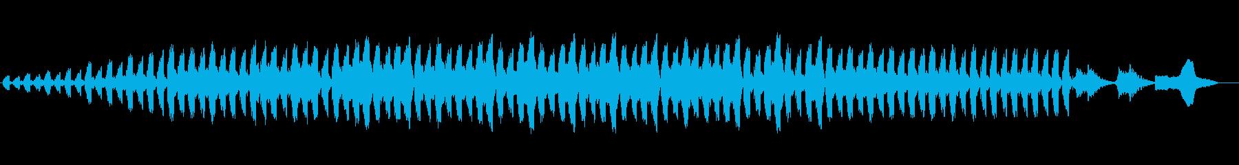 神秘的でマイナーなシンセサウンドの再生済みの波形