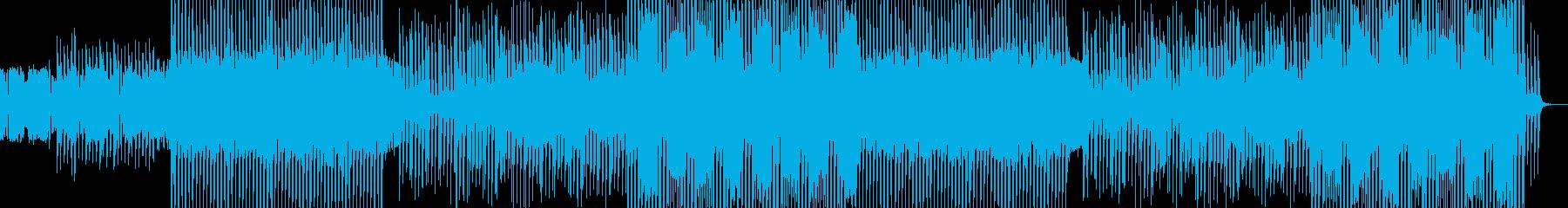 シンセポップなクラブダンスミュージックの再生済みの波形