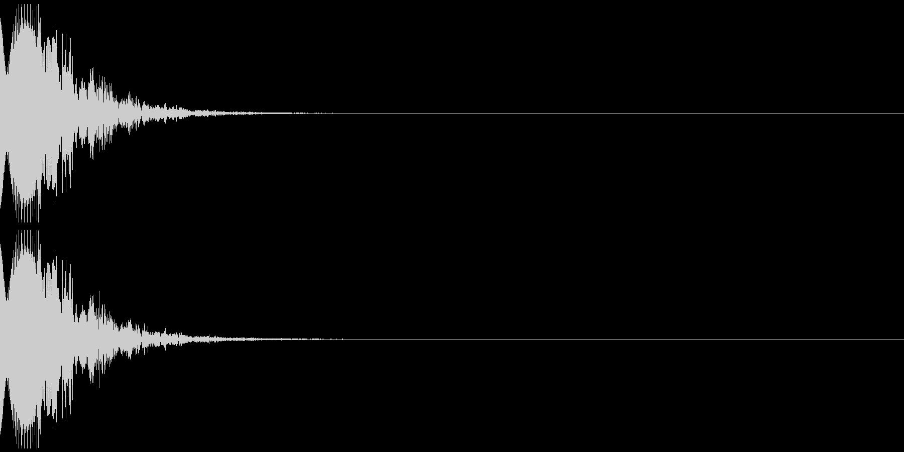 ピューン(キャンセル音)の未再生の波形