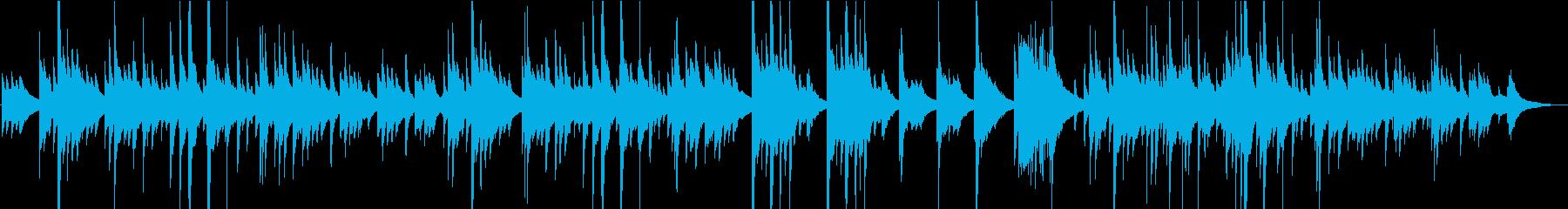 アコースティックギター2台の静かな曲の再生済みの波形