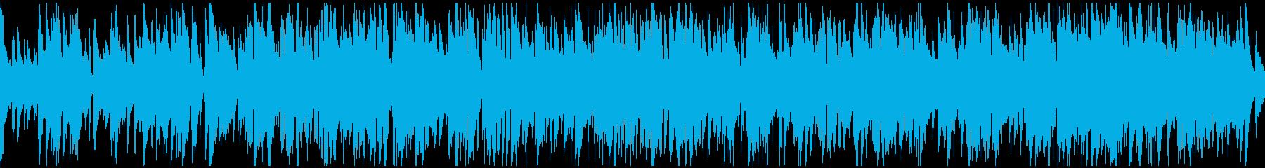 明るいジャズ、程よいテンポ感 ※ループ版の再生済みの波形