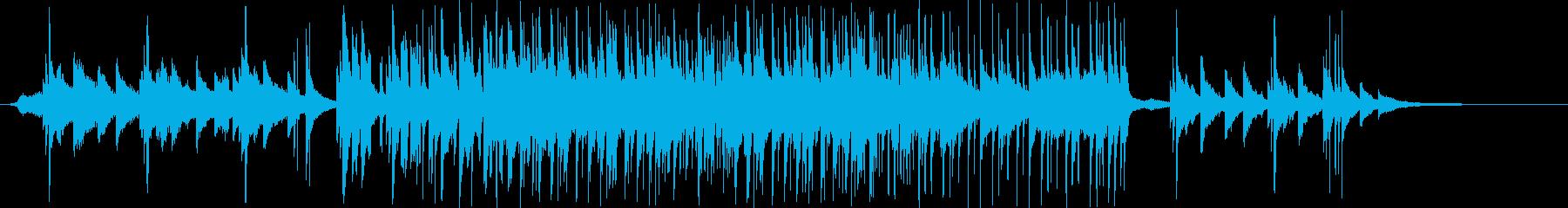 雰囲気の出ているバラードの曲の再生済みの波形