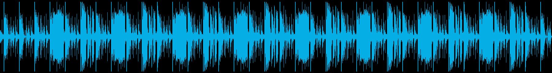 ヒップホップっぽい系のループ の再生済みの波形