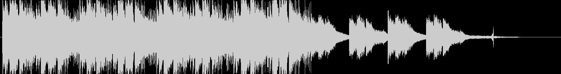 寂しげな雰囲気のエレクトロニカ_bの未再生の波形