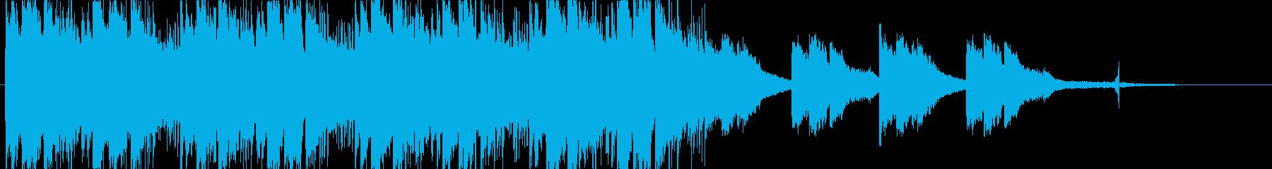 寂しげな雰囲気のエレクトロニカ_bの再生済みの波形
