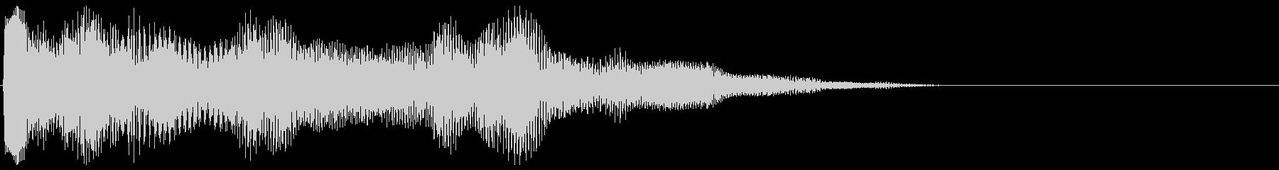 サウンドロゴ (柔らかく 低い)の未再生の波形