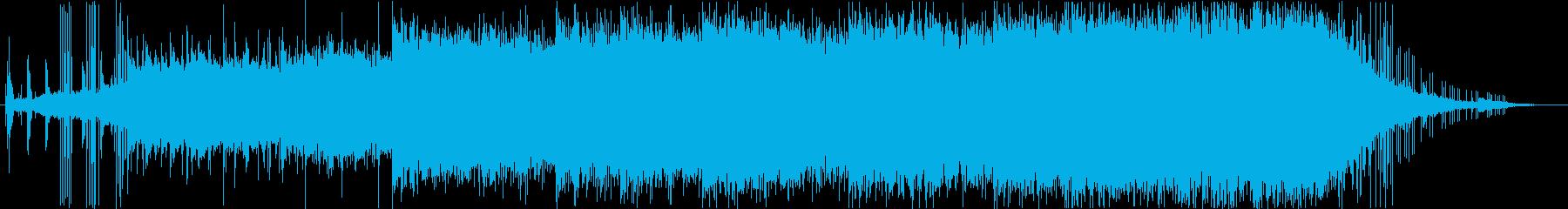 ミステリアスなアンビエント系BGMの再生済みの波形