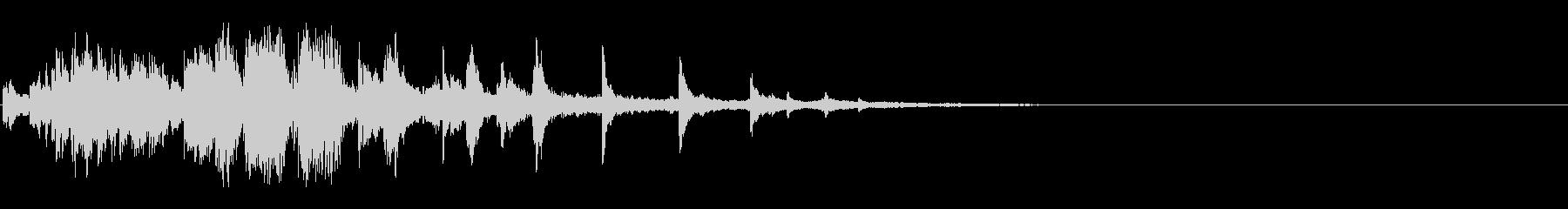 シャラララ (ウインドチャイム風)の未再生の波形