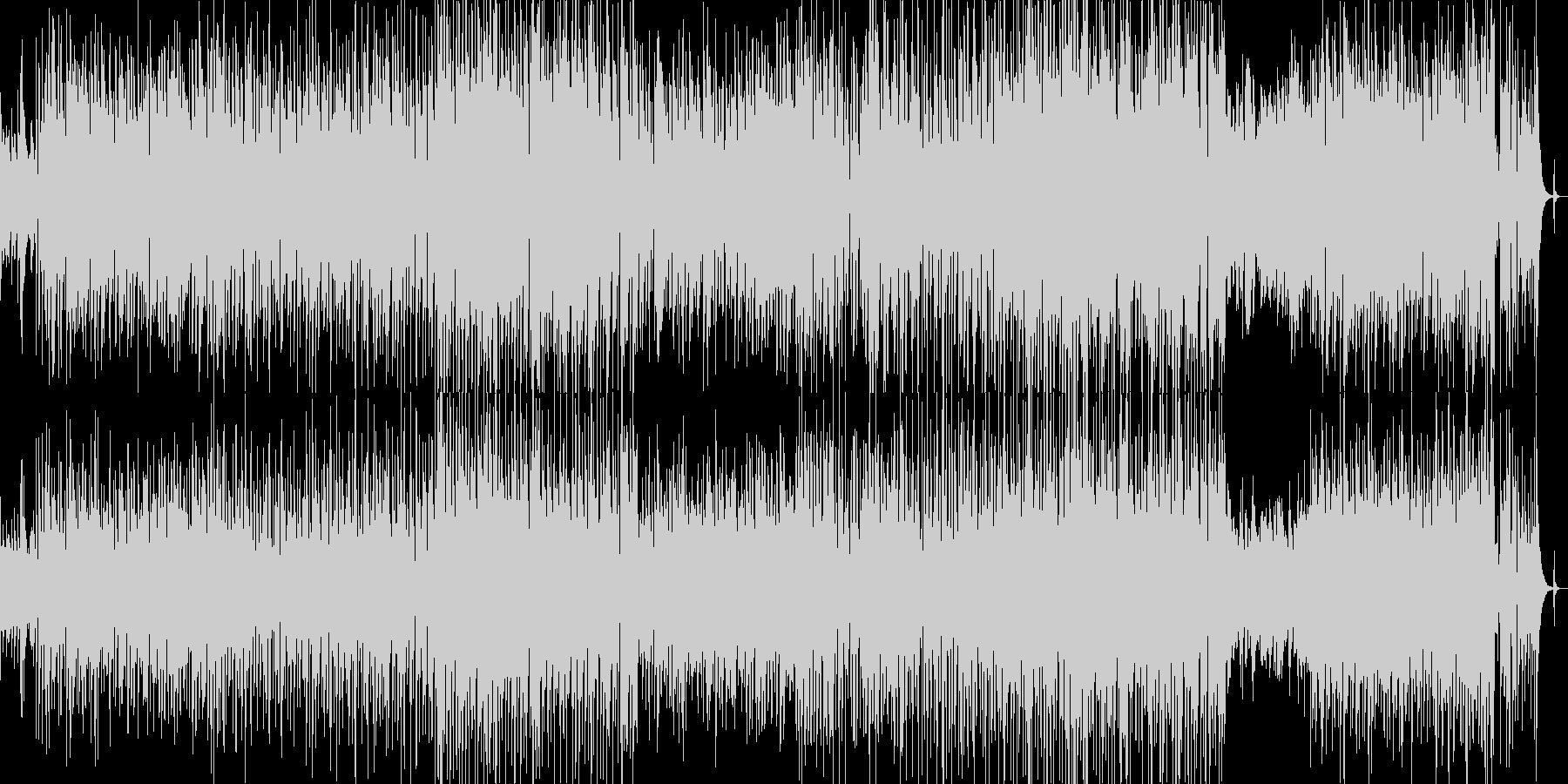 クリスマスシーズンのキラキラなスウィングの未再生の波形