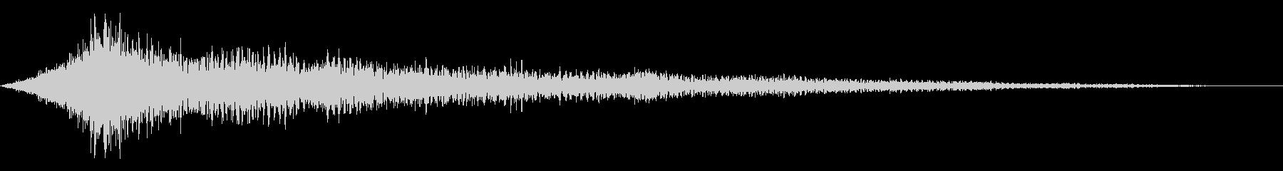 ホラー系アタック音115の未再生の波形
