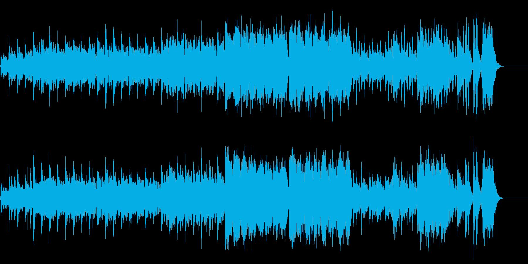 ミステリアスで重いクラシックワルツの再生済みの波形