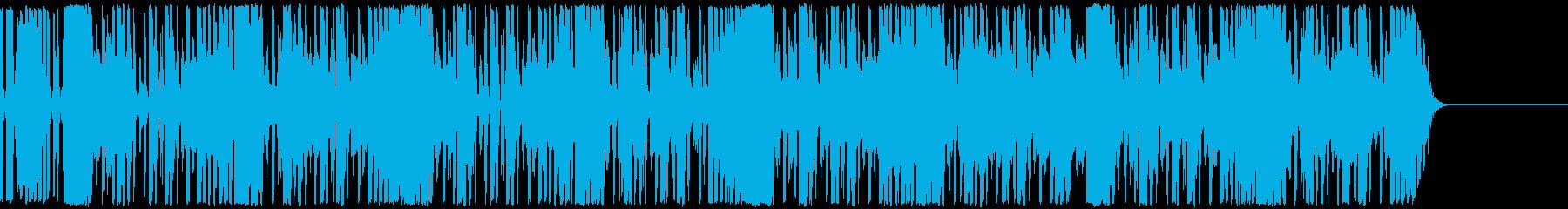 出囃子などで使えそうな明るめヒップホップの再生済みの波形