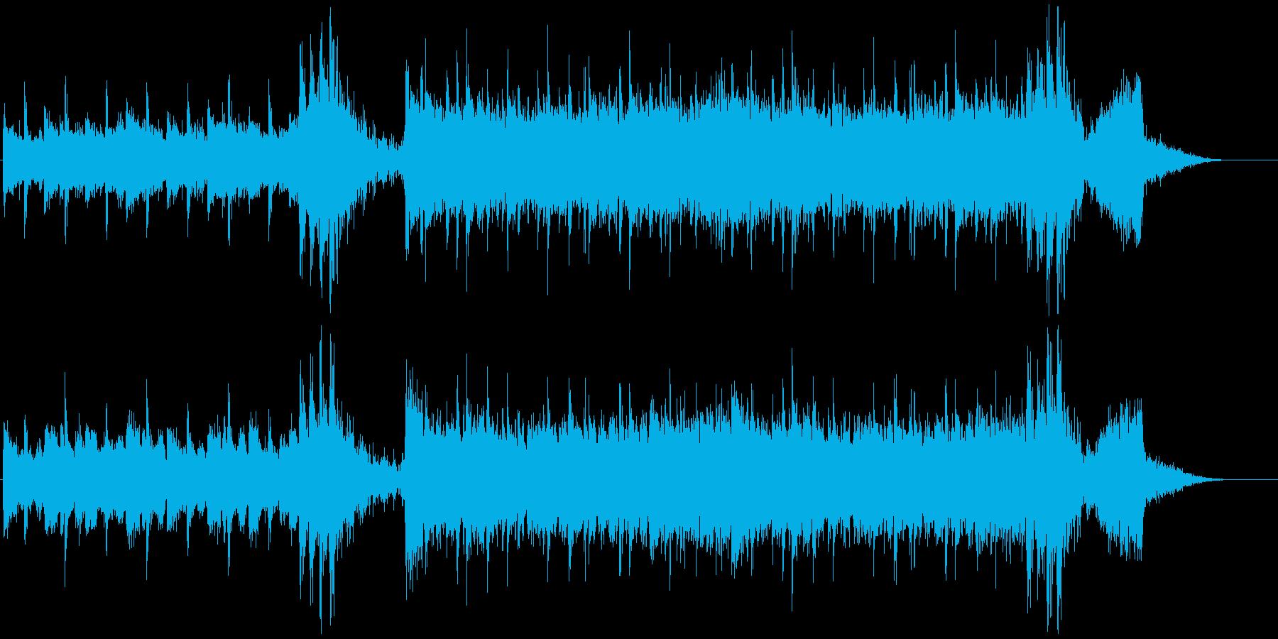 疾走感あるクールなギターロック30秒の再生済みの波形