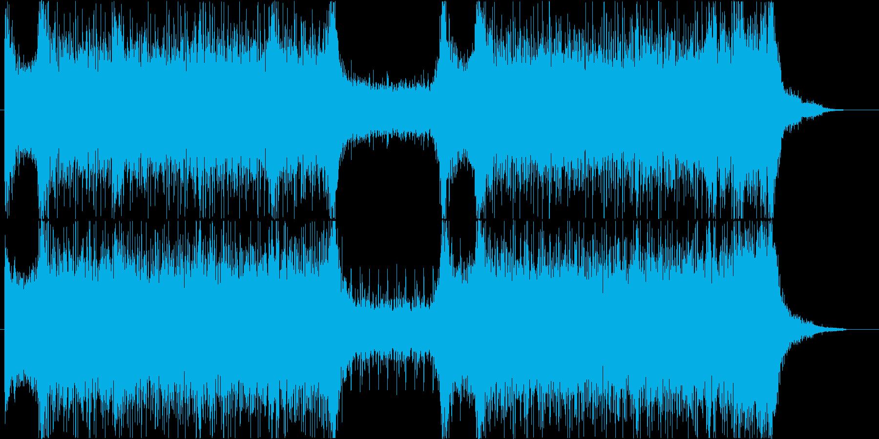 和太鼓メインの緊迫感・疾走感のある楽曲の再生済みの波形