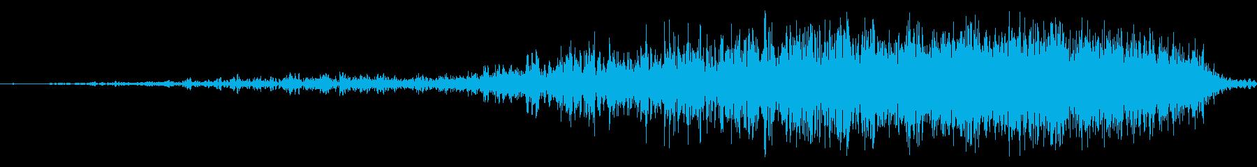 短いノイズ遷移の再生済みの波形