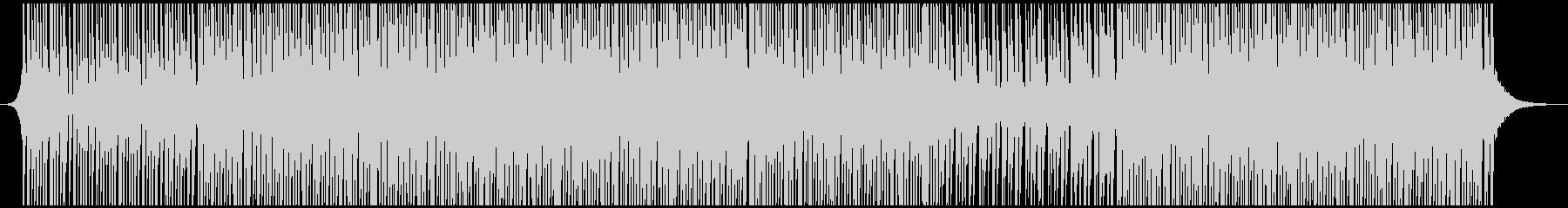 高揚ハウスミュージックの未再生の波形