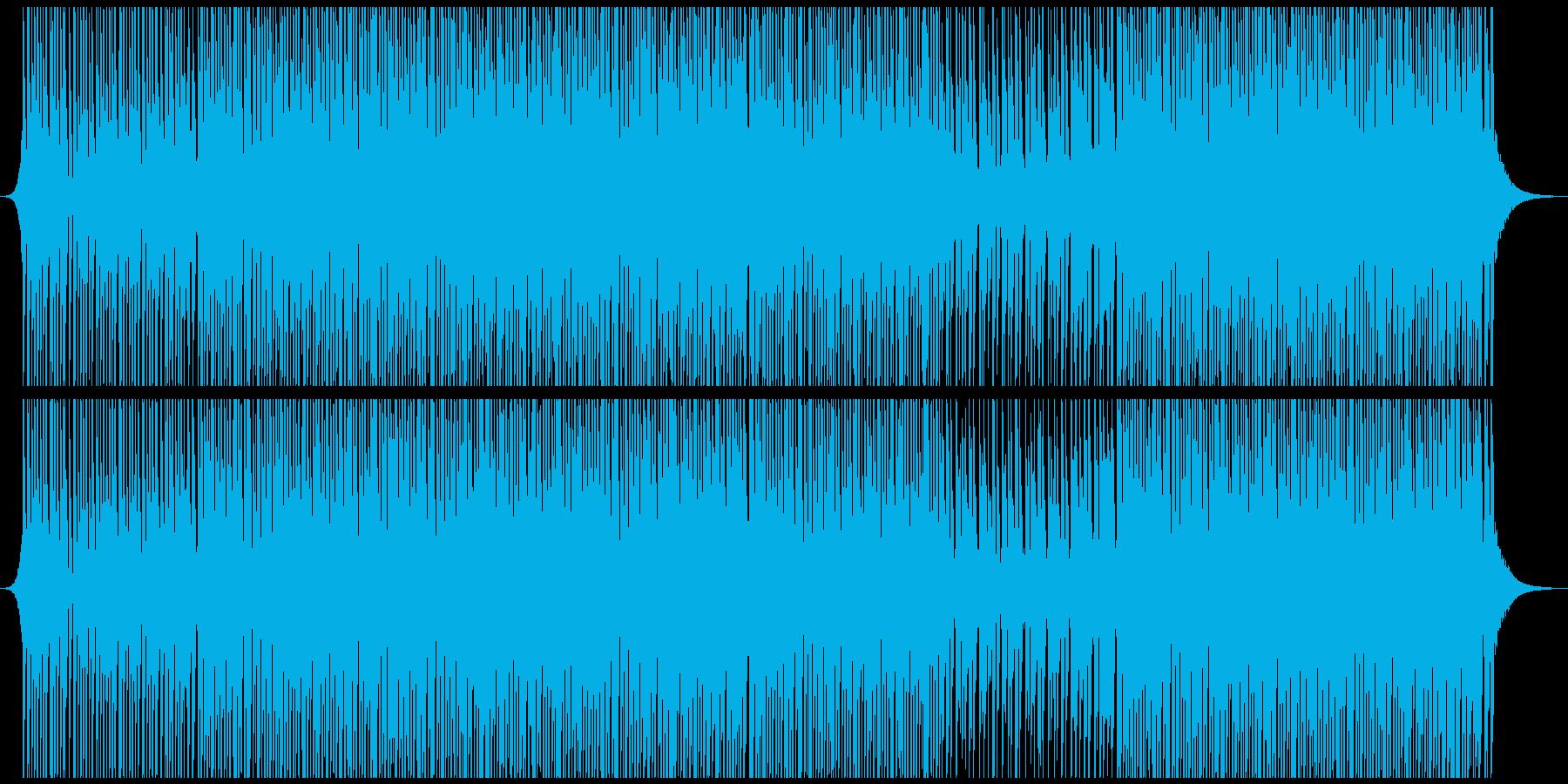 高揚ハウスミュージックの再生済みの波形