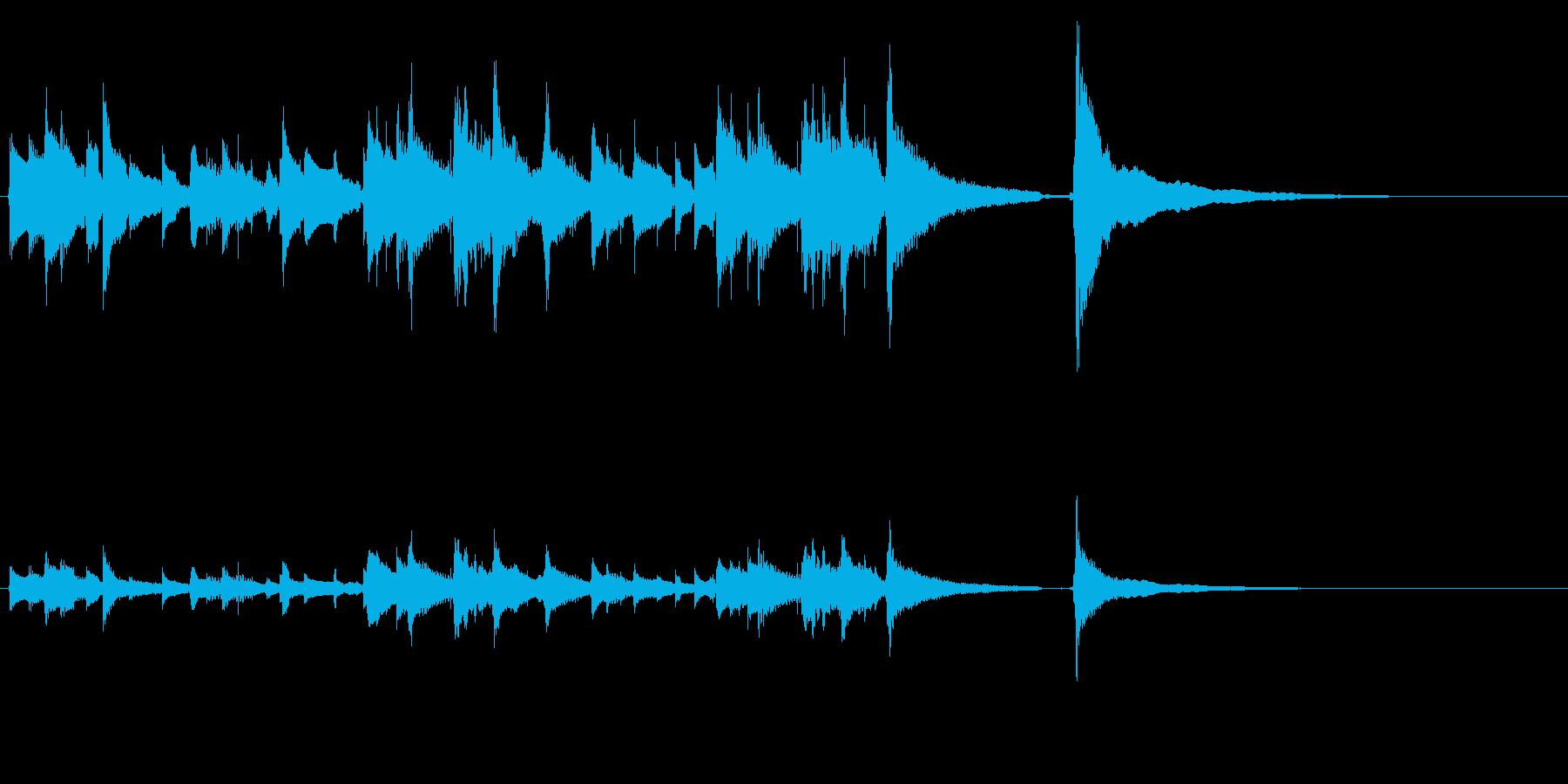 ★アコギのジングル/爽やか、20秒の再生済みの波形
