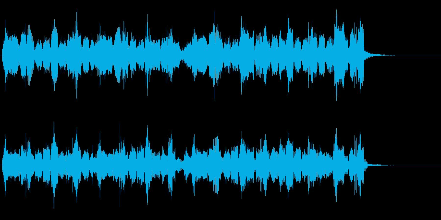 ケルト調のジングルの再生済みの波形