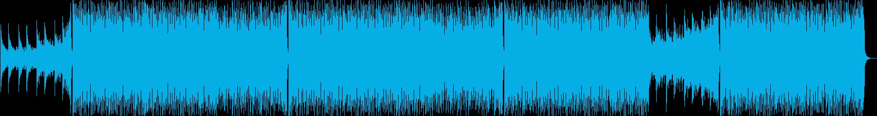 始まりの予感と希望のEDMの再生済みの波形
