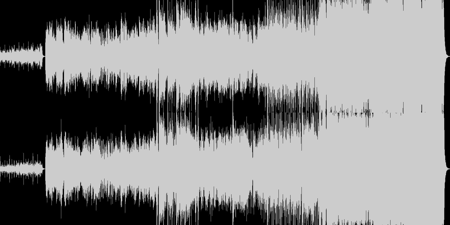 壮大なストリングスと二胡のハーモニーの未再生の波形