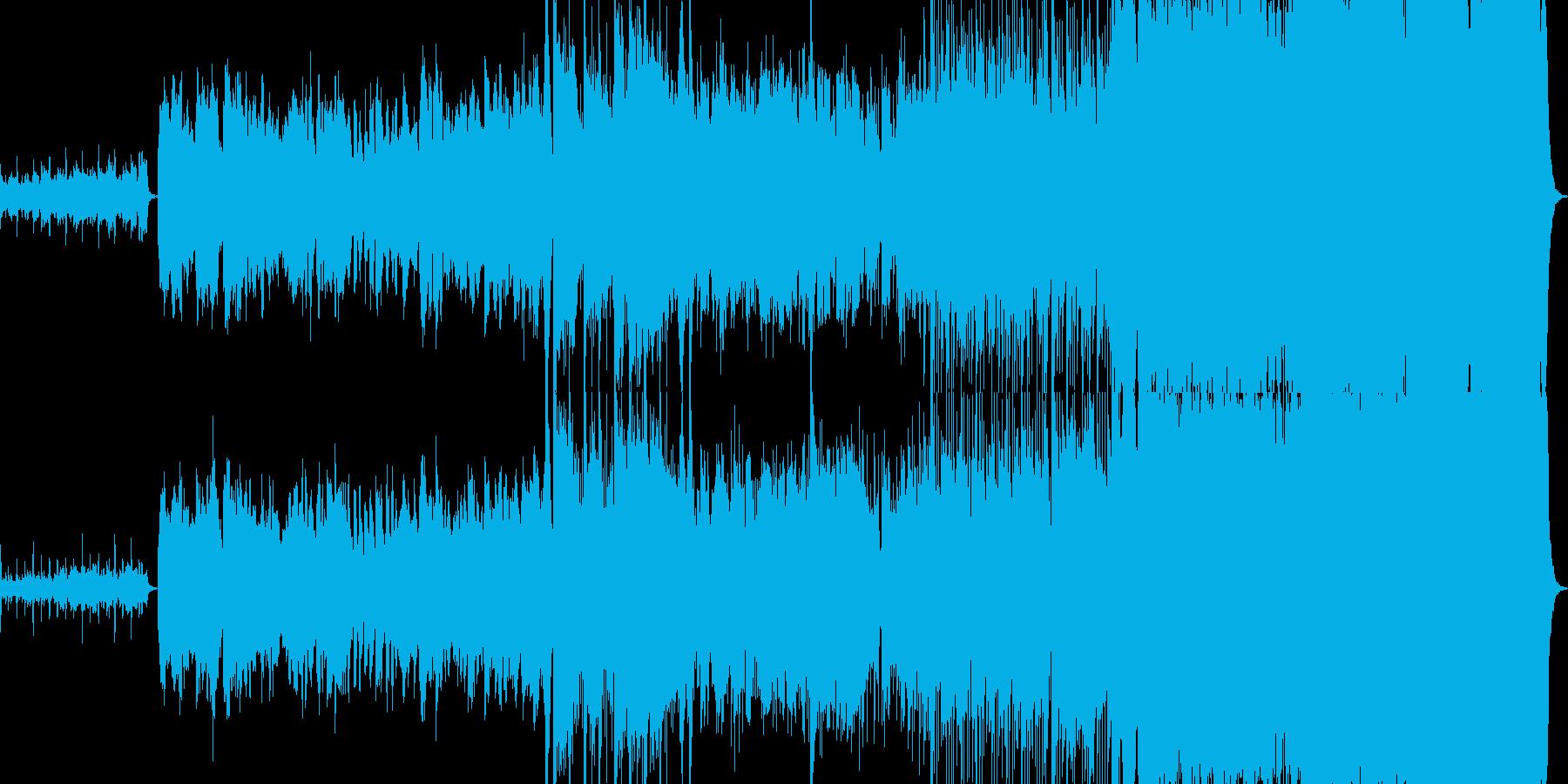 壮大なストリングスと二胡のハーモニーの再生済みの波形