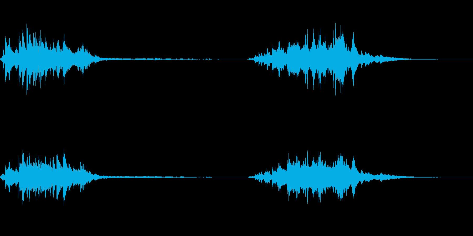 ベルツリー、メタルスティック、計器...の再生済みの波形